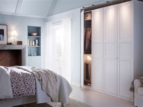 bedroom ikea a white bedroom with a large wardrobe combination and a