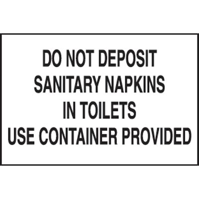 Sign Label Do Not Deposite Sanitaty Napkins Paper Towel In Toilet signs deposit sanitary napkins just b cause