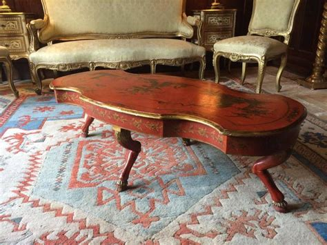 antique style coffee table chinoiserie lacquer