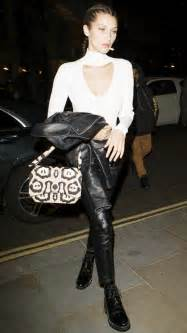 hadid just wore sparkling combat boots to a club in