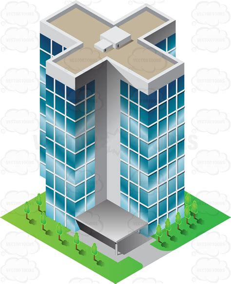 Office Floor Plan Symbols a high rise hospital building with teal mirrored windows