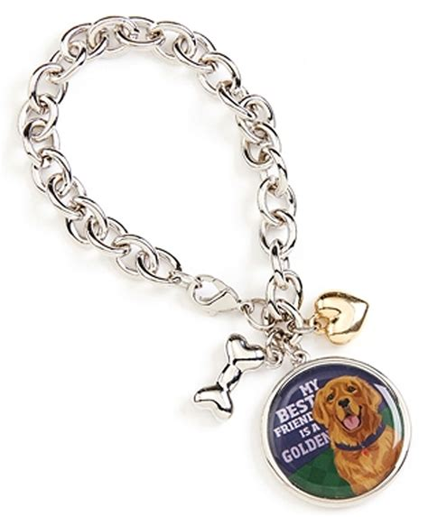 golden retriever charm golden retriever charm bracelet w bone silver ebay