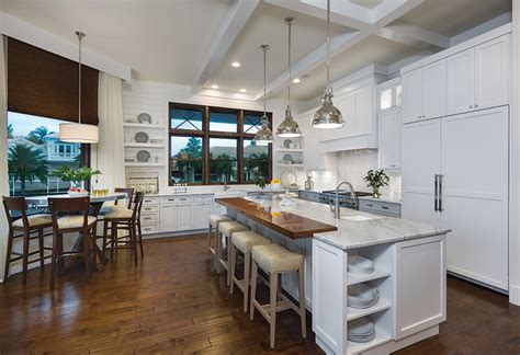 waterfront home kitchen design waterfront wonderland coastal style on longboat key