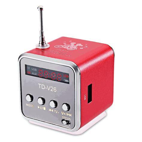 Speaker Portable Mini Aluminium G U Support Micro Sd Termurah 31 tdv26 portable radio fm receiver mini speaker digital lcd sound micro sd tf stereo
