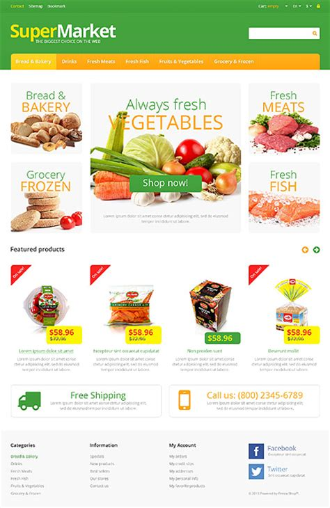 themes for grocery store white grocery store prestashop theme by hermes bootstrap
