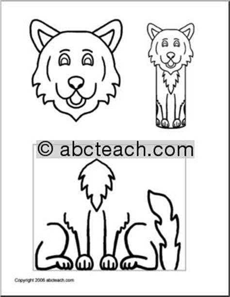 craft paper roll pal wolf preschool primary abcteach
