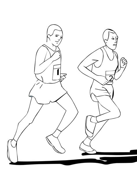 coloring pages of a person running marathon coloring page handipoints