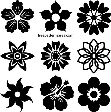 flower vectors printable shapes file