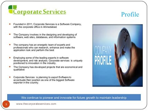 microsoft office company profile template software company profile corporate services