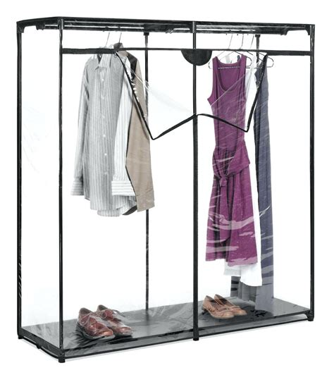 Enclosed Garment Rack by Clothing Rack With Stand Garment Clothes Industrial