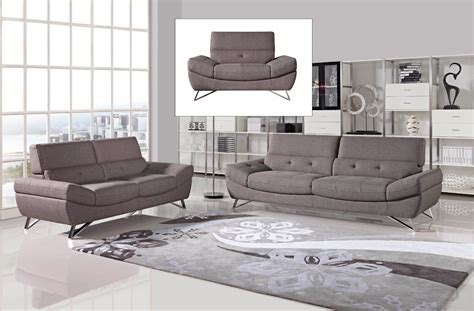 sofa set modern divani casa potash modern taupe fabric sofa set
