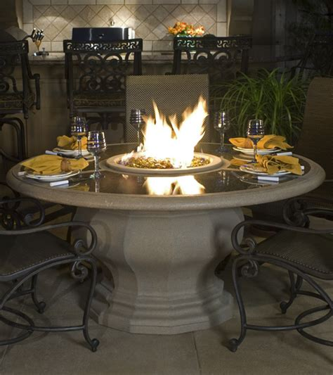 inverted dining firetable las vegas outdoor kitchens and