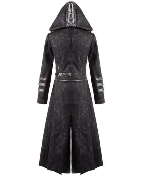 gothic industrial steam punk coats jackets and trench coats punk rave scorpion mens coat long jacket black gothic