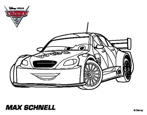Free Cars 2 Max Schnell Coloring Pages