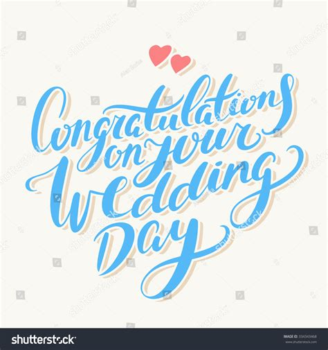 Wedding Congratulations In Italian by Congratulations On Your Wedding Day Greeting Stock Vector