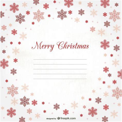 Kostenlose Vorlage Weihnachten Frohe Weihnachten Vorlage Mit Schneeflocken Der Kostenlosen Vektor