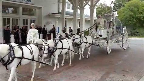Disney Wedding: Cinderella Horse Drawn Carriage   YouTube