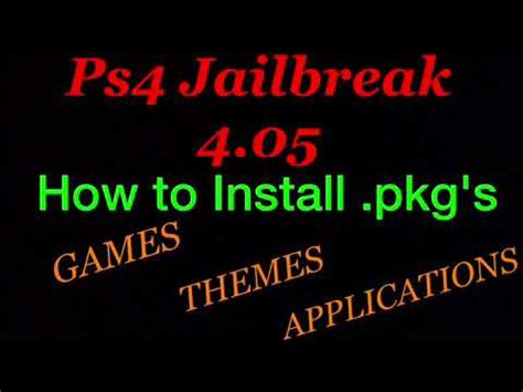 ps4 themes laden ps4 jailbreak 4 05 install pkg s games themes apps how