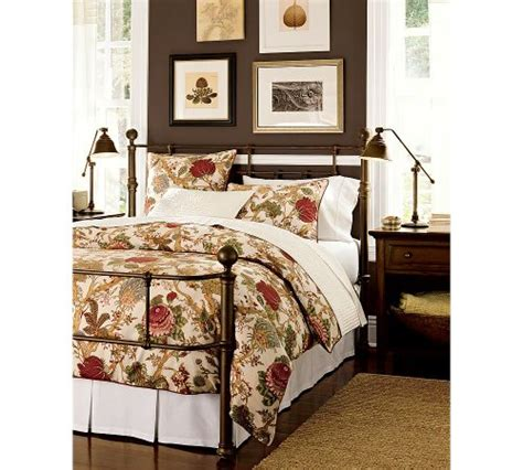 pottery barn king bed king size iron beds