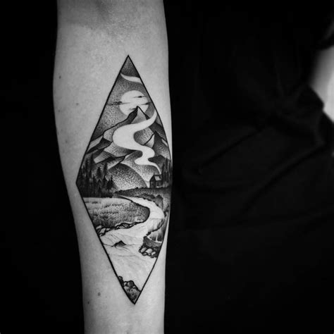 landscape tattoo 1000 ideas about landscape on tattoos