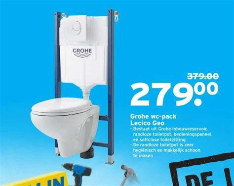 praxis grohe wc geberit inbouwreservoir up 100 aanbieding bij karwei
