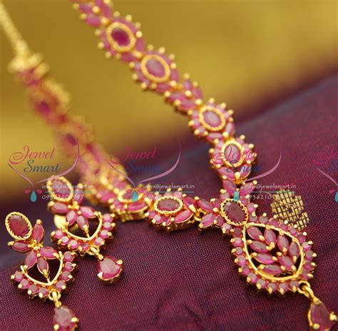ad0804 ruby necklace traditional indian jaipur design