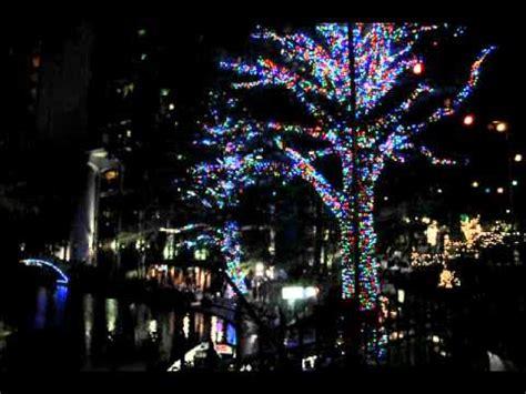 san antonio river walk christmas lights youtube