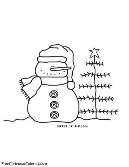 christmas tree and snowman coloring pages snowman coloring page snowman and christmas tree