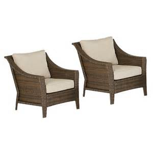rolston 2 wicker patio club chair set th target