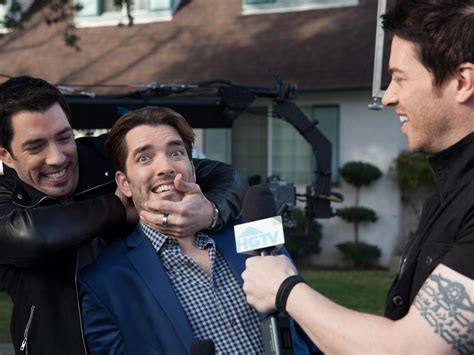 drew and jonathan go behind the scenes with property brothers drew and jonathan scott brother vs brother on