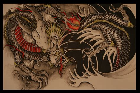 tattoo japanese dragon black chinese dragon wallpapers wallpaper cave