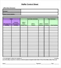 raffle sheet template 9 download free documents in pdf