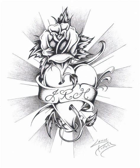 rose heart tattoo designs rose heart tattoo heart