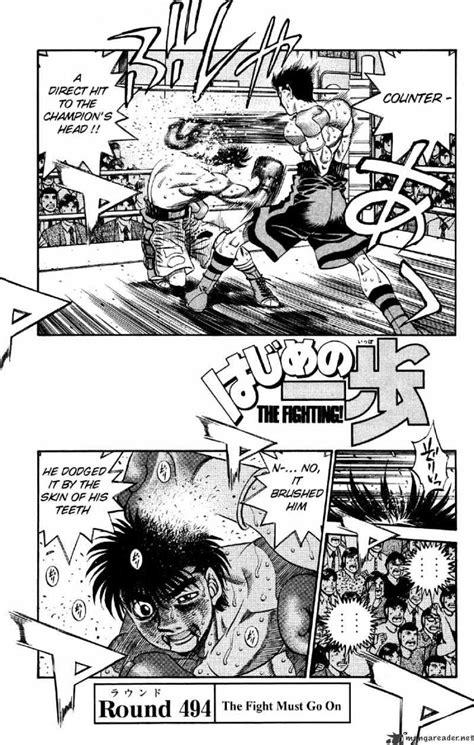 hajime no ippo chapter 494 the fight must go on mangakakalot