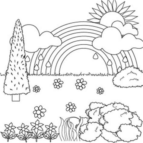coloring book views flower field of nature coloring page color