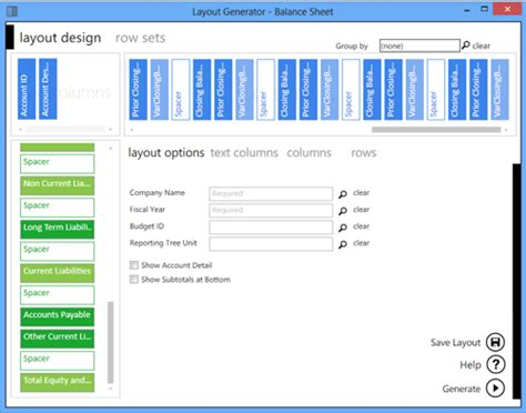 sage layout manager business solution providers sage intelligence report