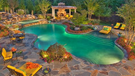 15 Swimming Pool Decks with Stone and Pavers   Home Design