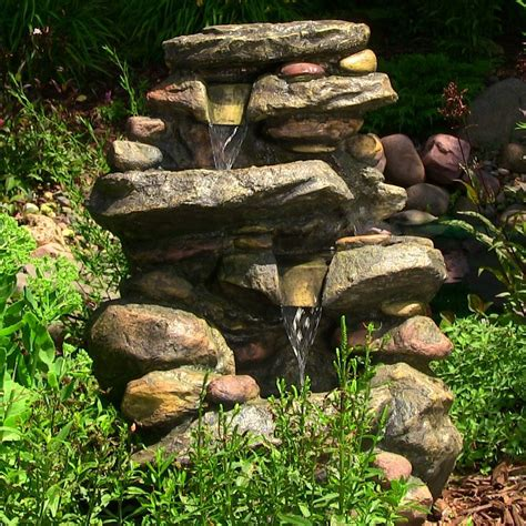 water fountain stone water falls  led light outdoor