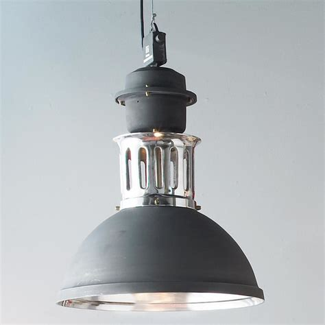 Large Graphite And Aluminum Industrial Pendant Pendant Large Industrial Pendant Lighting