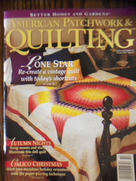 American Patchwork And Quilting Magazine Back Issues - american patchwork quilting october 1994 vol 2 no 5