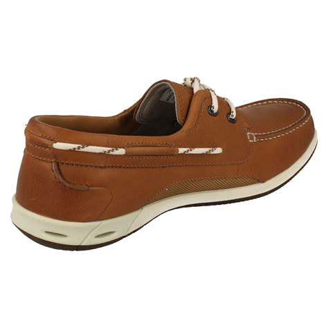 clarks boat shoes mens clarks boat style lace up leather shoes orson