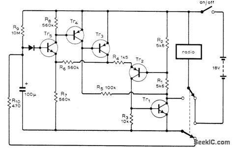 transistor radio schematic diagram transistor radio turnoff basic circuit circuit diagram