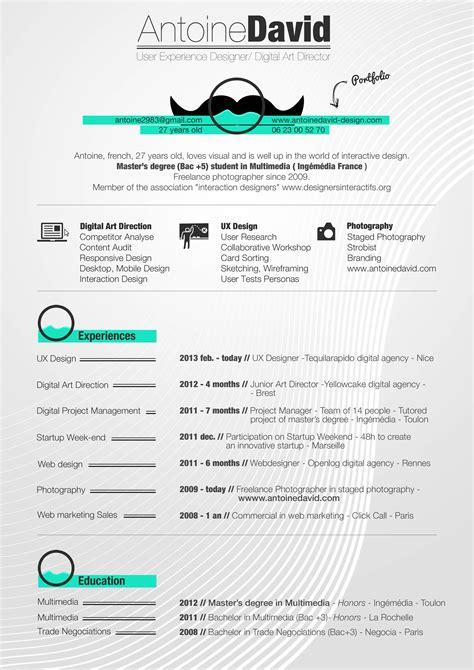 cv design ux curriculumvitae antoine david ux designer allege jpg 2480