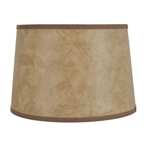 allen roth l shades allen roth 10 in x 15 in faux leather fabric drum l