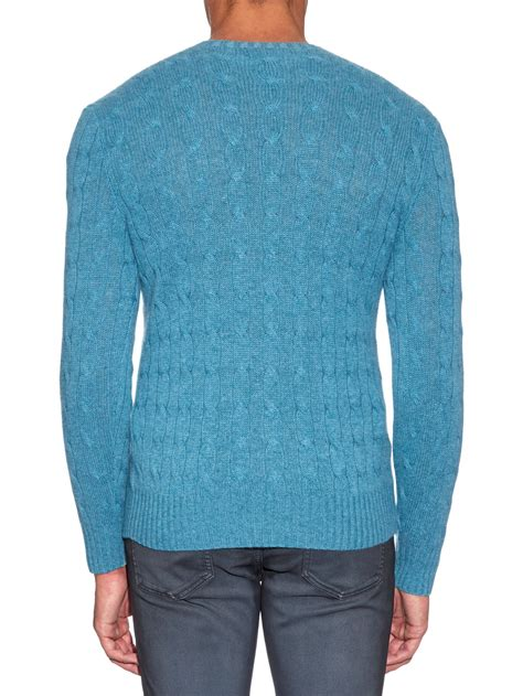 ralph knitted polo lyst polo ralph cable knit sweater in