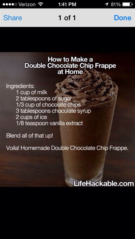 how to make chocolate chip frappe at home musely