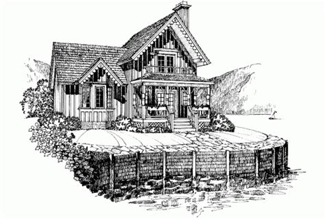 gothic revival home plans eplans gothic revival house plan sweet lakeside cottage