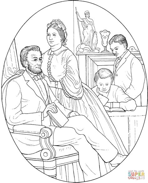 Abraham And Mary Todd Lincoln Coloring Page Free Abraham Lincoln Coloring Pages