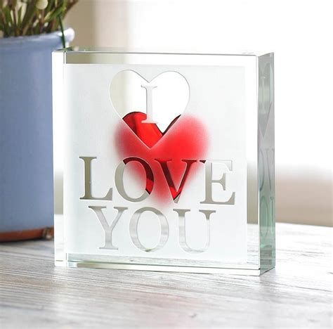 spaceform paperweight i love you romantic love gift ideas