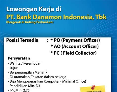 lowongan bank bca lulusan sma info lowongan kerja id